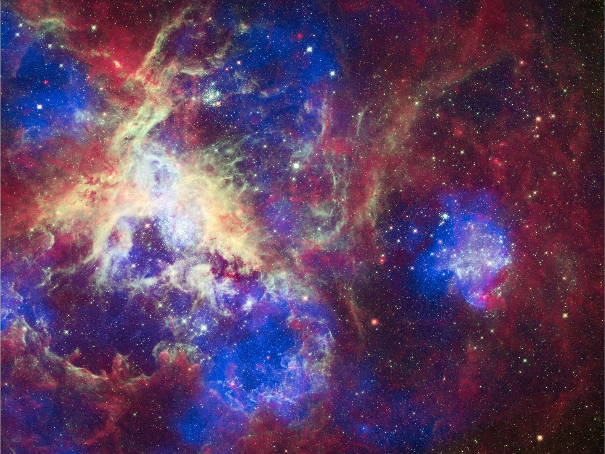 """Der sogenannte """"Tarantel-Nebel"""" in der Großen Magellanschen Wolke existiert demnach zumindest dreimal."""