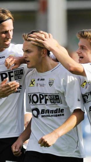 Alleinunterhalter Fabian Flatz schoss im Derby gegen Dornbirn das Goldtor.