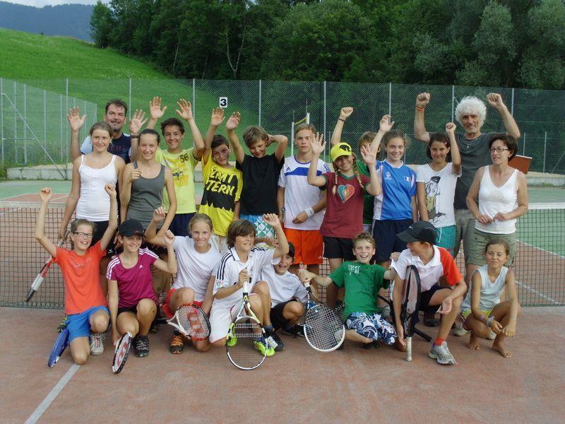 Begeisterung bei den Teilnehmern des 1. Mittelwälder Tennisturniers