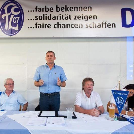 FC Lustenau-Präsident Dieter Sperger wurde bei den Neuwahlen einstimmig wiedergewählt.