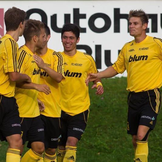 Höchst jubelt nach dem Sensationssieg im VFV-Cup gegen den Titelverteidiger Dornbirn.