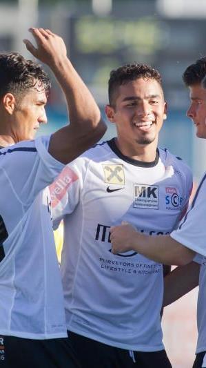 Vinicius Gomes Maciel traf Viermal ins Schwarze, Bregenz deklassierte Saalfelden mit 8:1.
