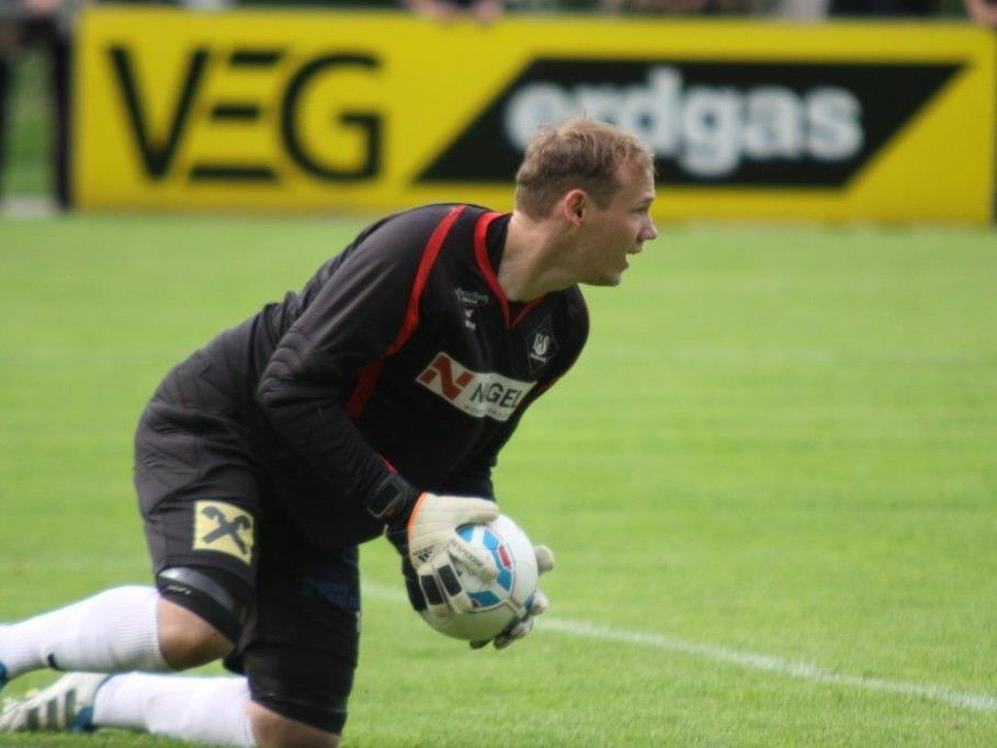 Rankweil-Goalie Markus Breuss will seinen Kasten in Feldkirch rein halten.