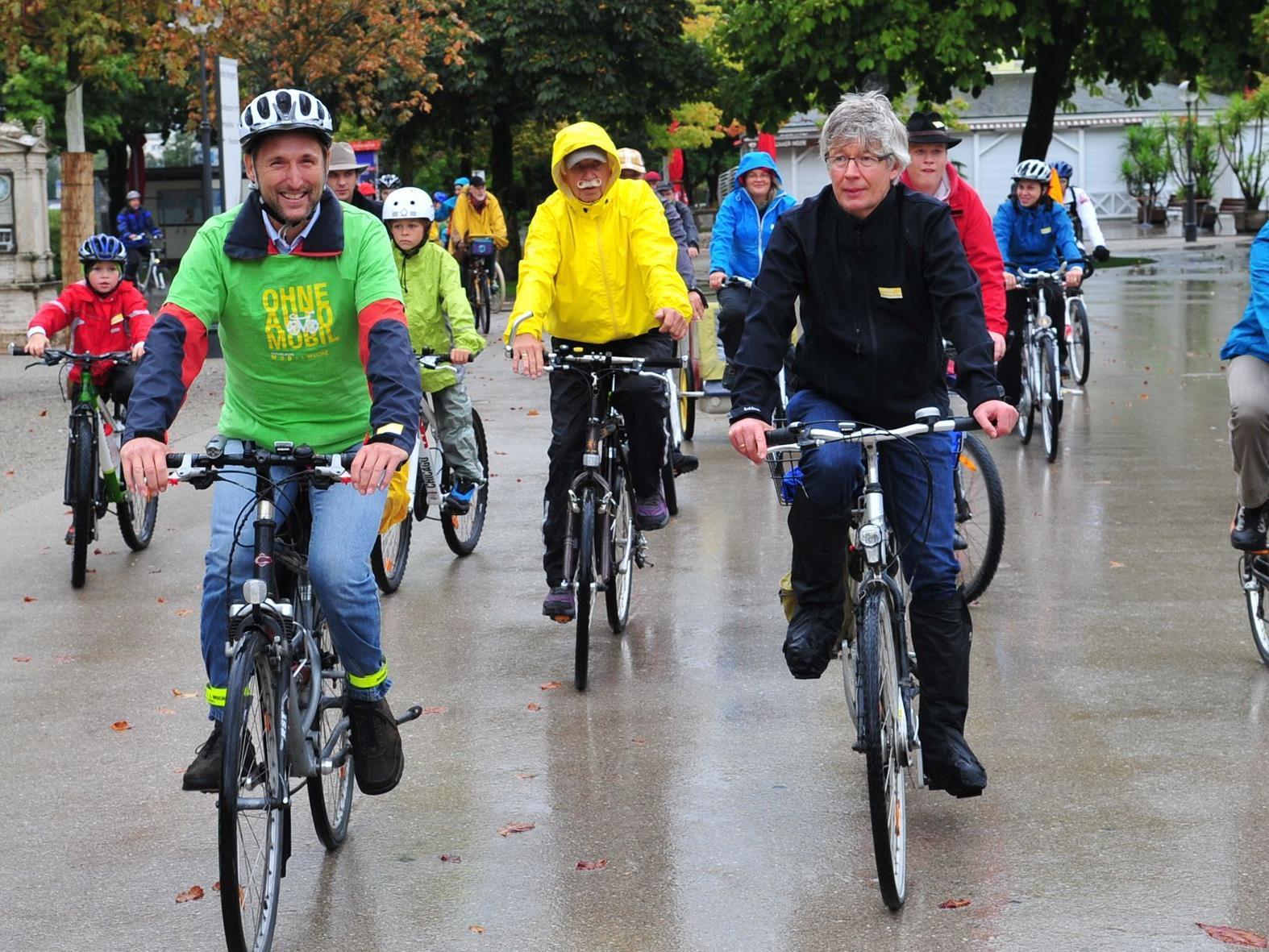 Erste Fahrrad-Parade in Vorarlberg.