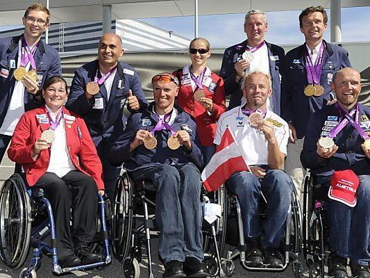 Erfolgreiche Paralympics-Athleten in Schwechat