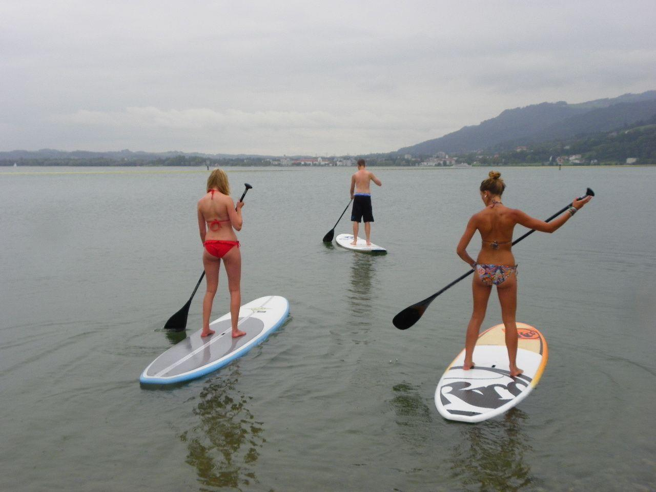 Stand Up Paddle Training für das Charity Race am Sonntag