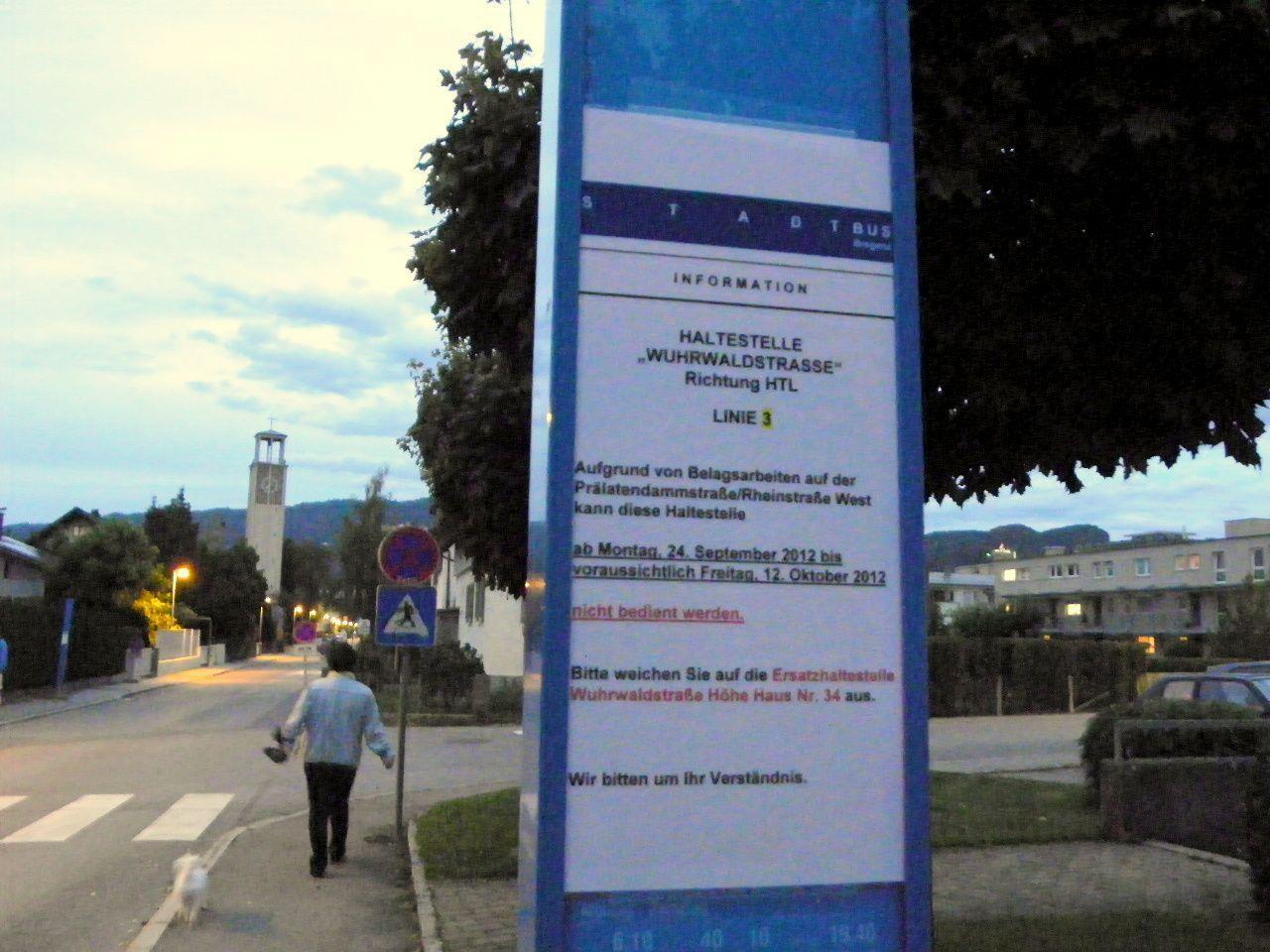 Bushaltestelle wird nicht angefahren