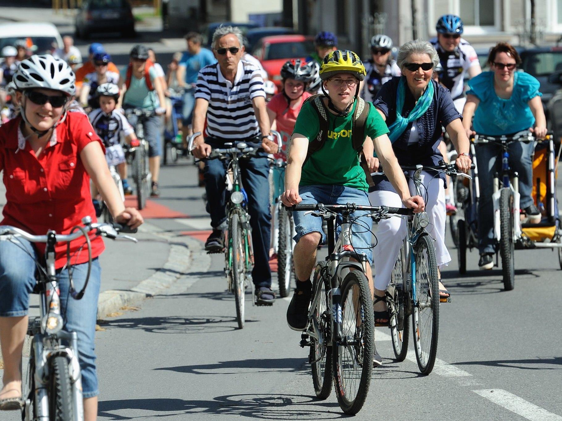 Im Rahmen der Umweltwoche findet heuer erstmals eine Fahrradparade nach Feldkirch statt.