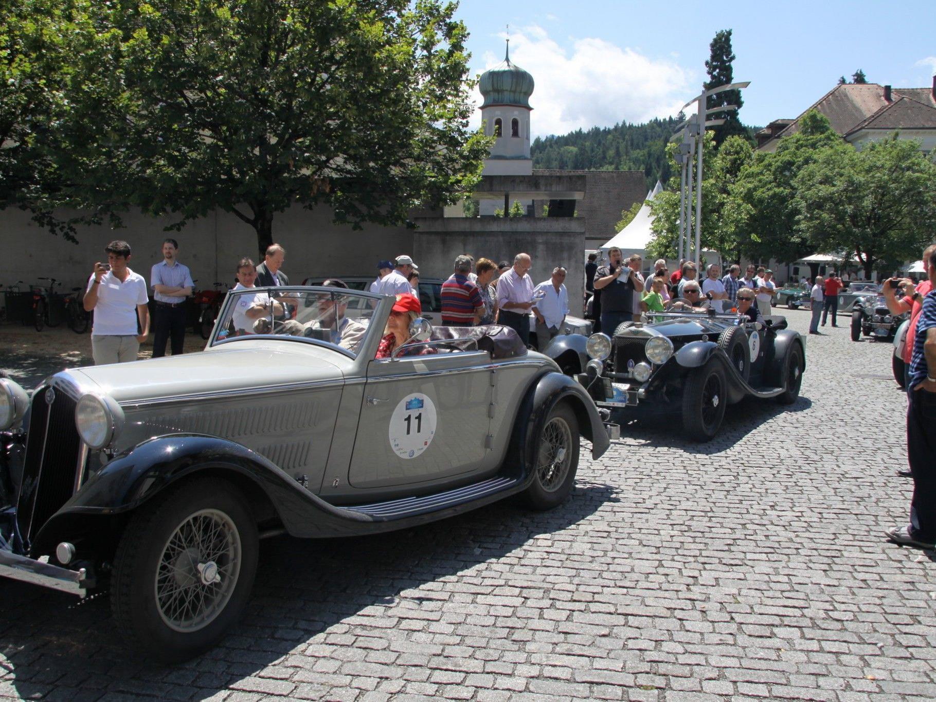 Die Silvretta Classic Rallye ist seit vielen Jahren ein Fixpunkt des Rankweiler Sommers