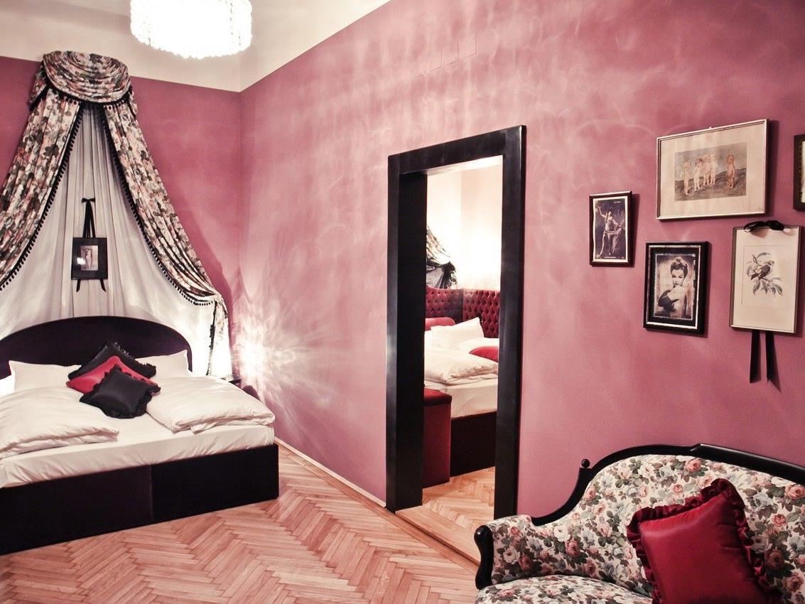 Lena Hoschek krierte dieses Zimmer im Hotel Alstadt Vienna.