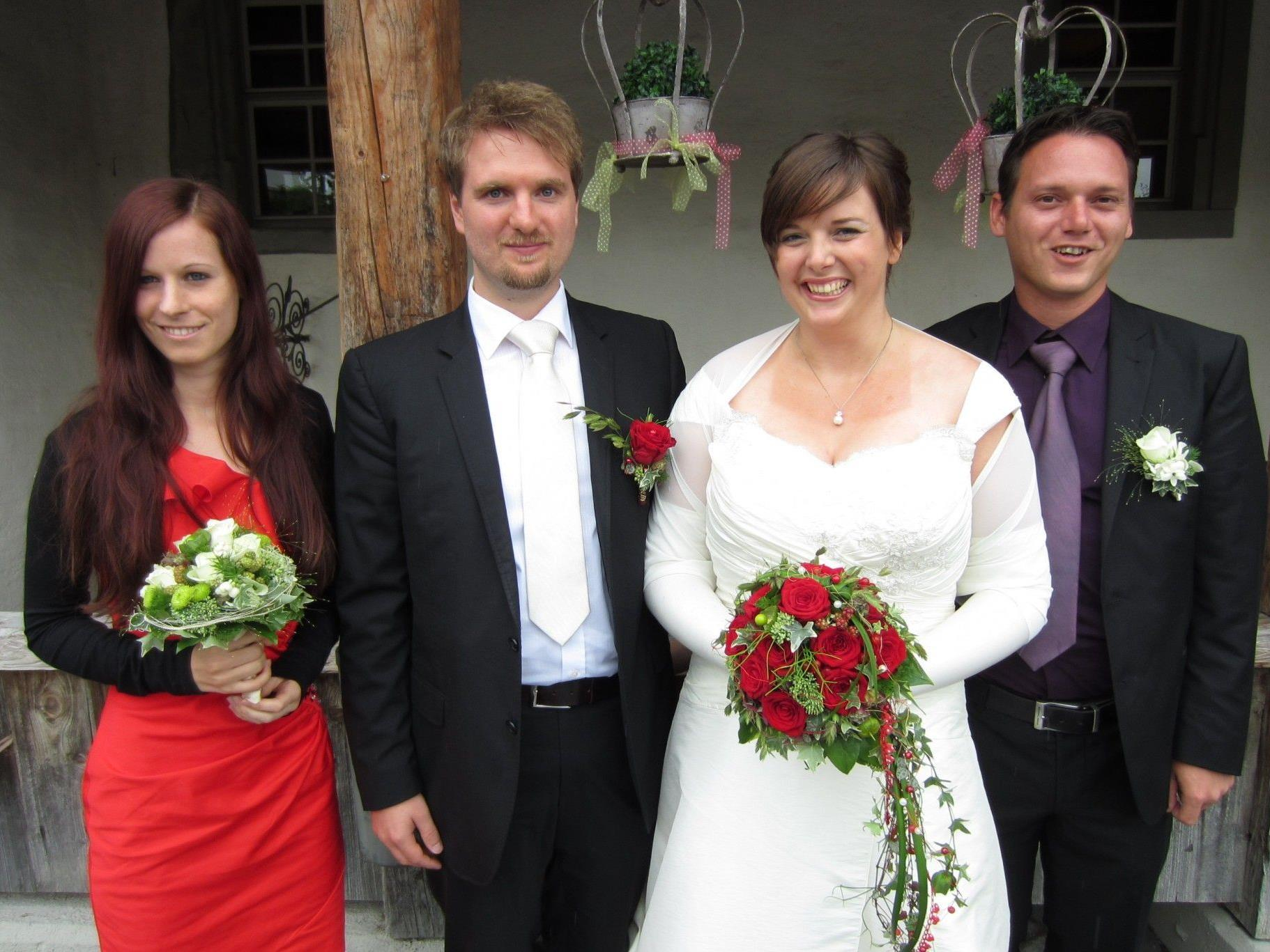 Angela Kohler und Markus Taxauer haben geheiratet.
