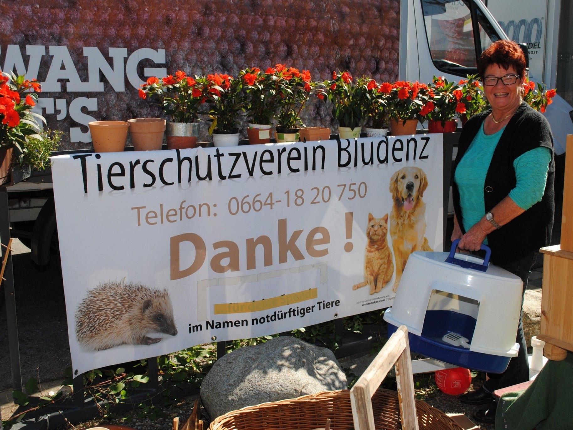 Annelies Dalpez organisiert einmal im Monat einen Flohmarkt für bedürftige Tiere