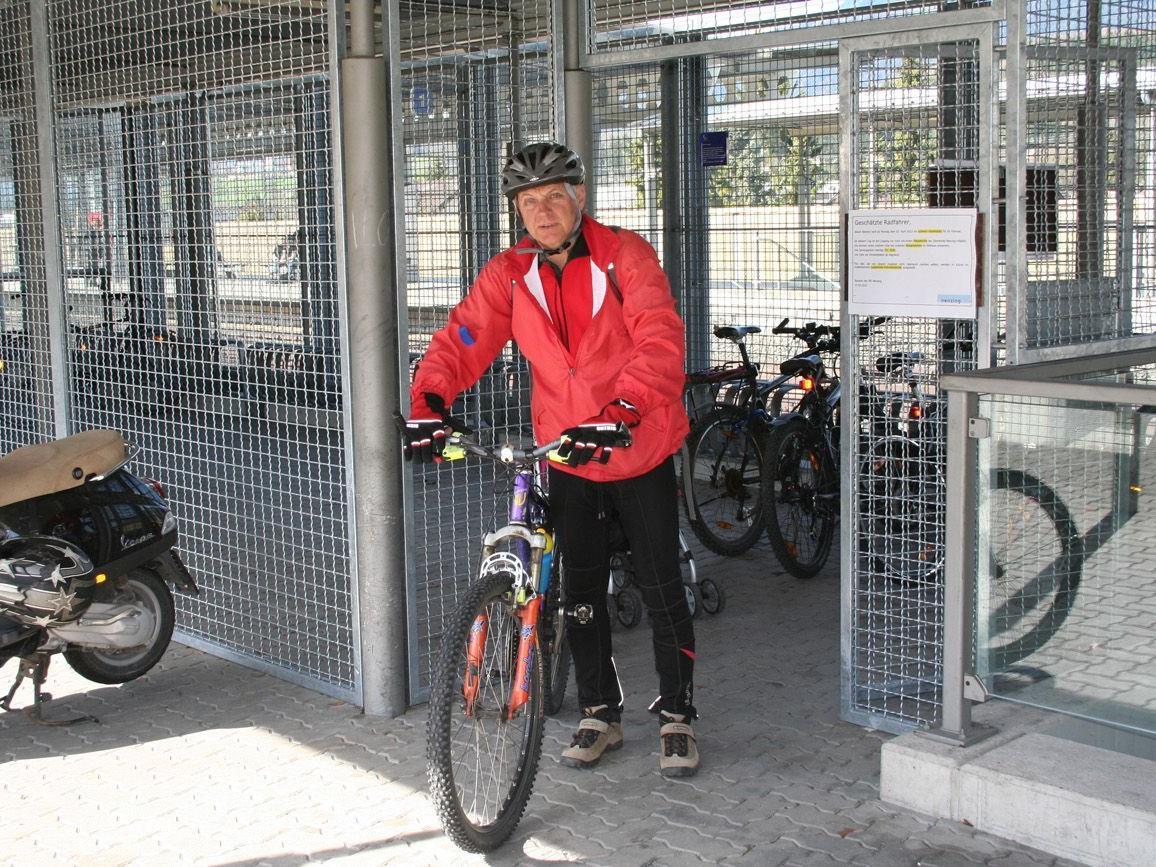 Die Fahrradboxen am Nenzinger Bahnhof wurden bislang nur zögerlich in Anspruch genommen.