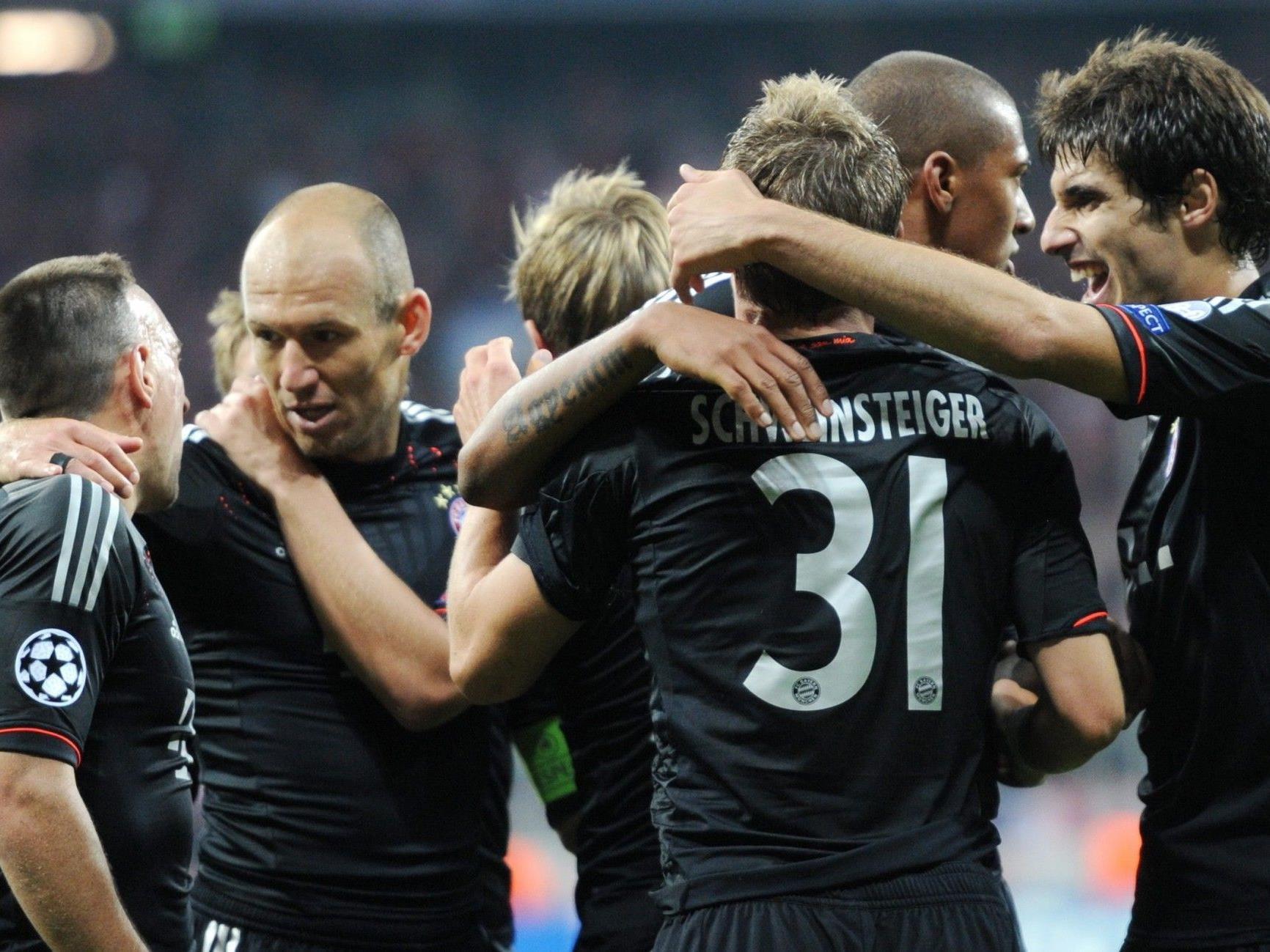 Der FC Bayern jubelt über den CL-Auftaktsieg zuhause gegen Valencia.
