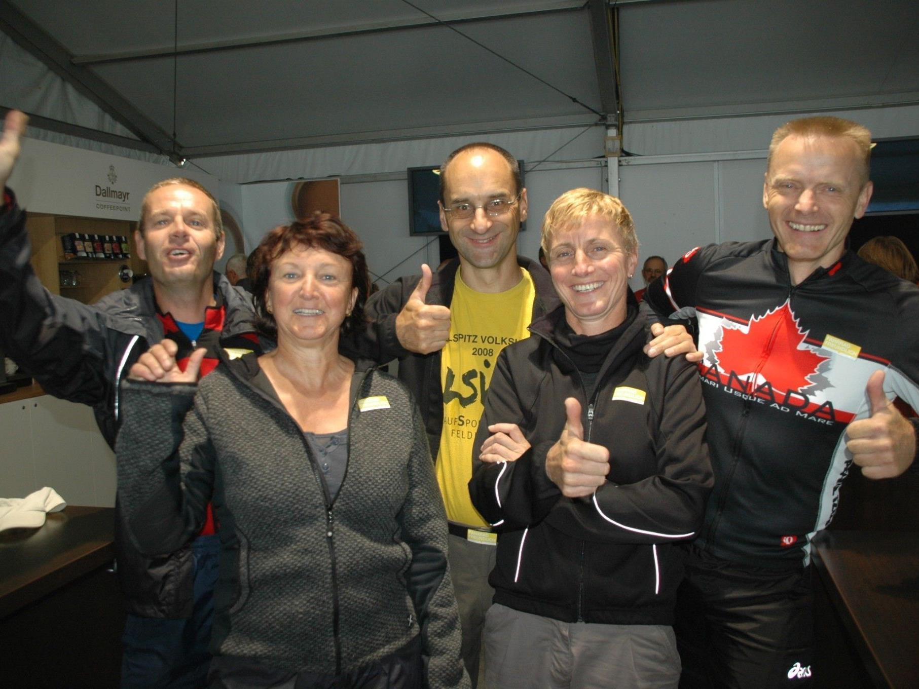 (v.lFahrrad Parade 2012: v.l.  Andreas Gruszka, Isolde Klien, Klaus Fetter, Marlene Wucherer & Dietmar Weinhofer waren mit dabei!