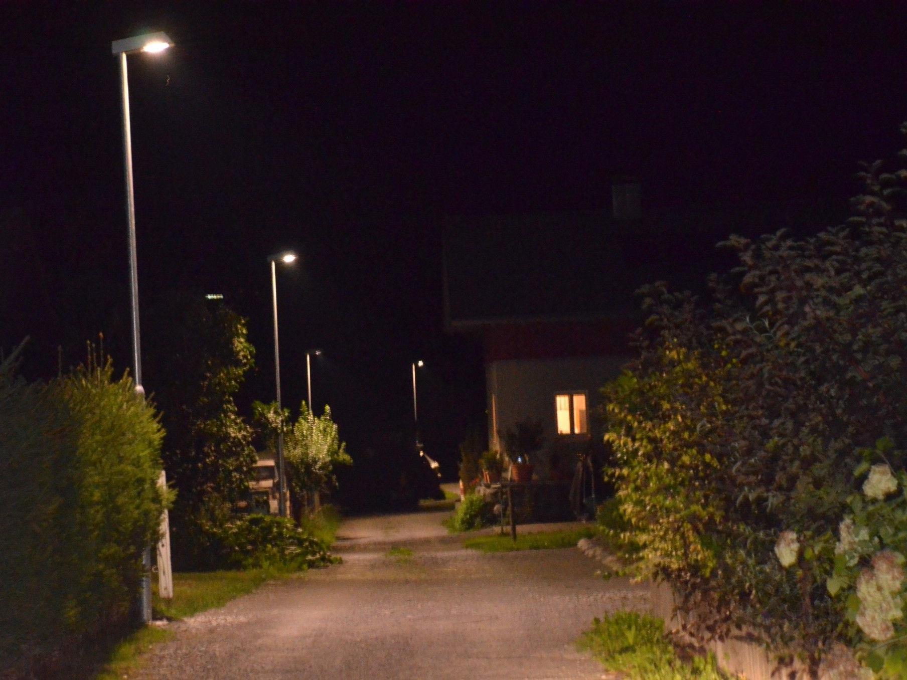 LED-Straßenbeleuchtung in Innerbraz