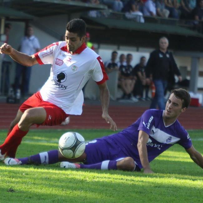 FC Dornbirn verlor gegen Austria Salzburg das Spiel und Kapitän Johannes Hirschbühl durch Ausschluss.