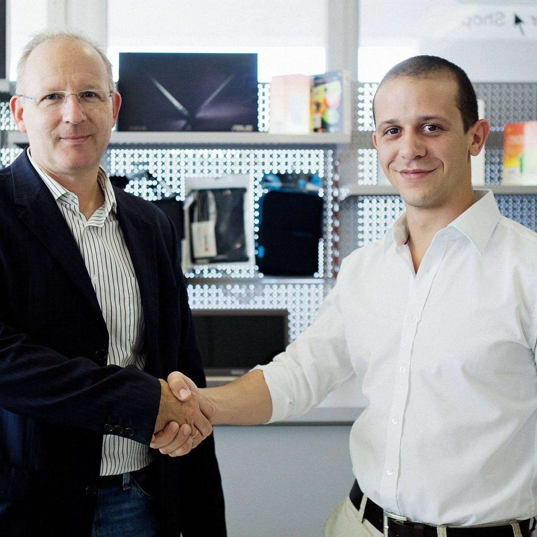 Die beiden Geschäftsführer der unITer GmbH: Walter Rhomberg und Patrick Lais (v.l.n.r.).