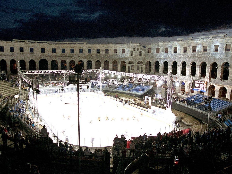 Die Vienna Capitals verloren im Amphitheater von Pula mit 1:4.