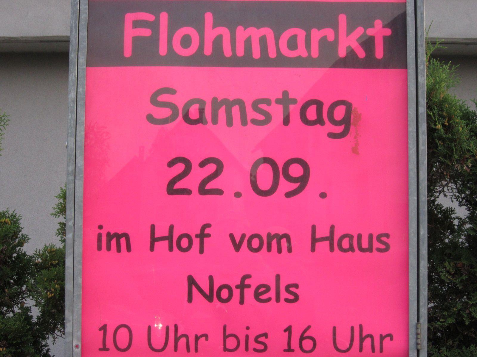 Im Haus Nofels findet ein Flohmarkt statt