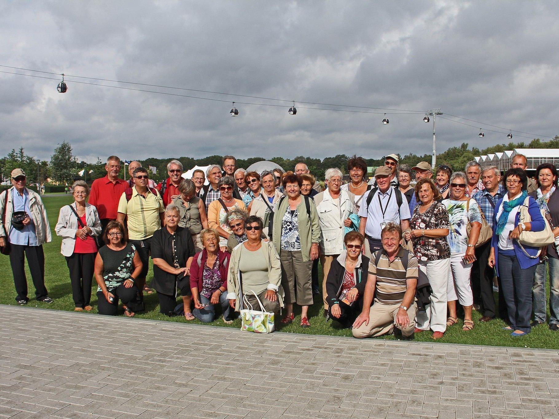 Die Gartenfreunde des OGV-Hard bei der Floriade 2012