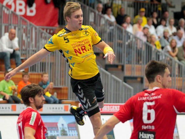 Marian Klopcic steuerte fünf Treffer zum Sieg der Bregenzer bei