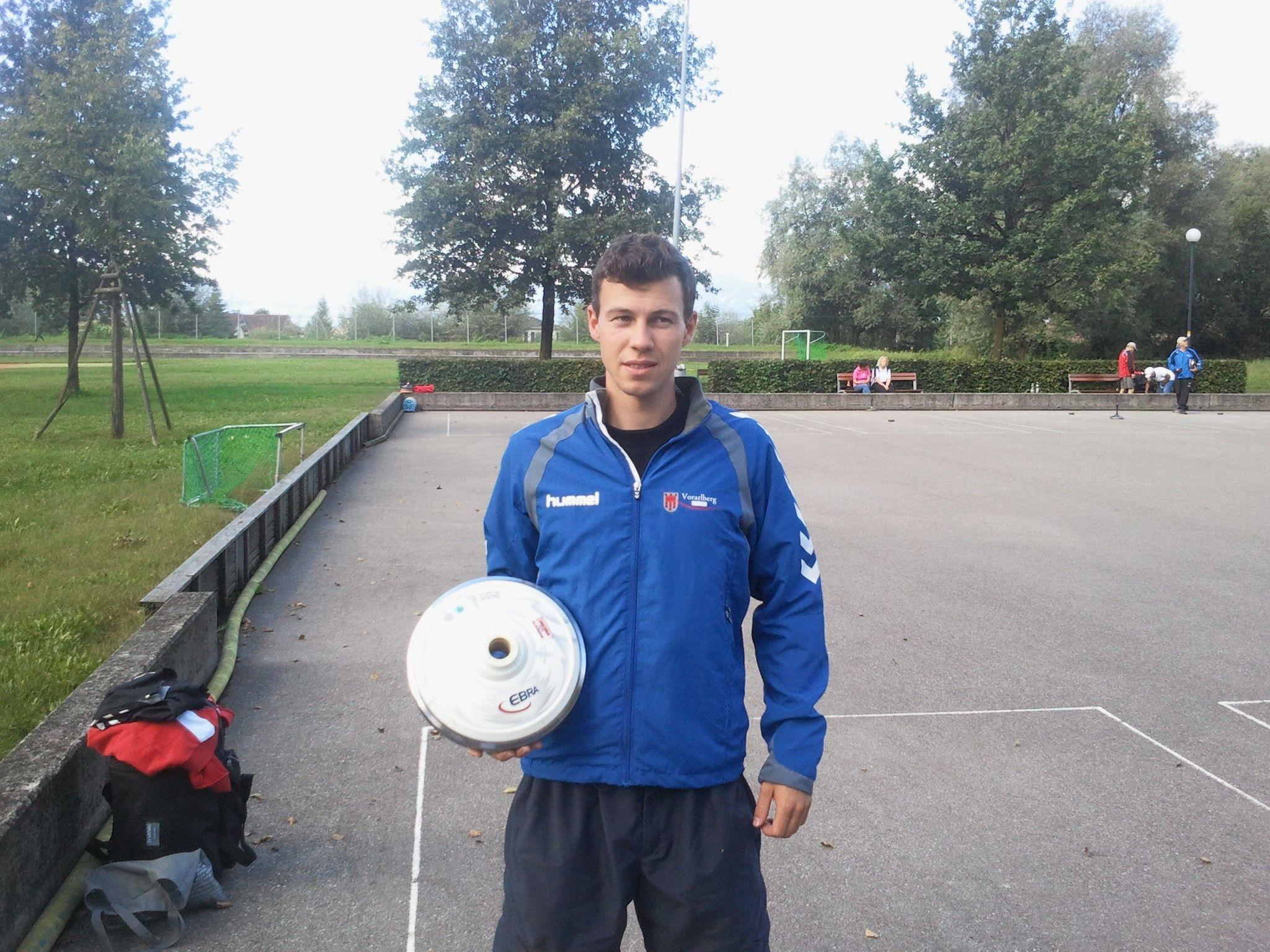 Der Juniorenmeister im Zielbewerb Abraham Sohm
