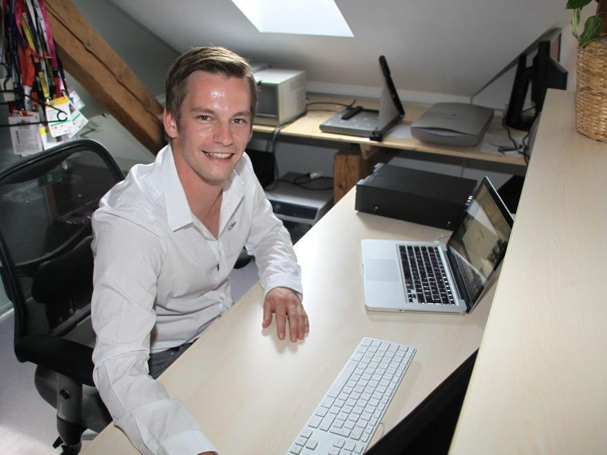 Philipp Fasser moderiert für den Privatsender Ländle TV und das ist genau sein Traumberuf.