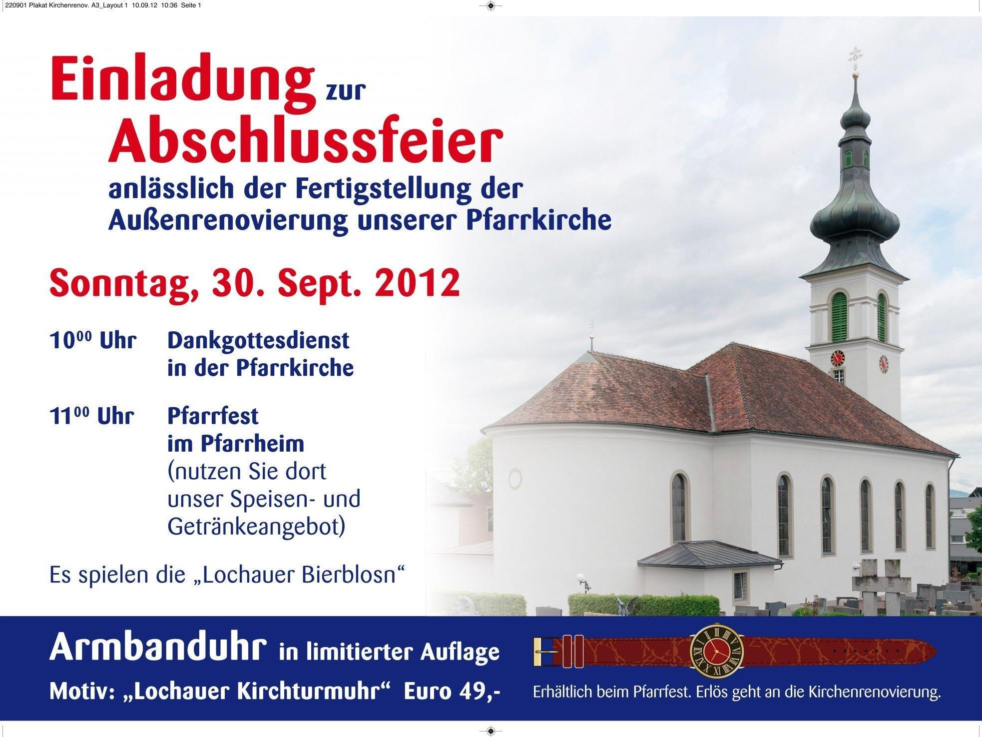 """""""Dankgottesdienst mit Pfarrfest"""" anlässlich der bestens gelungenen Kirchenrenovierung im Pfarrheim."""