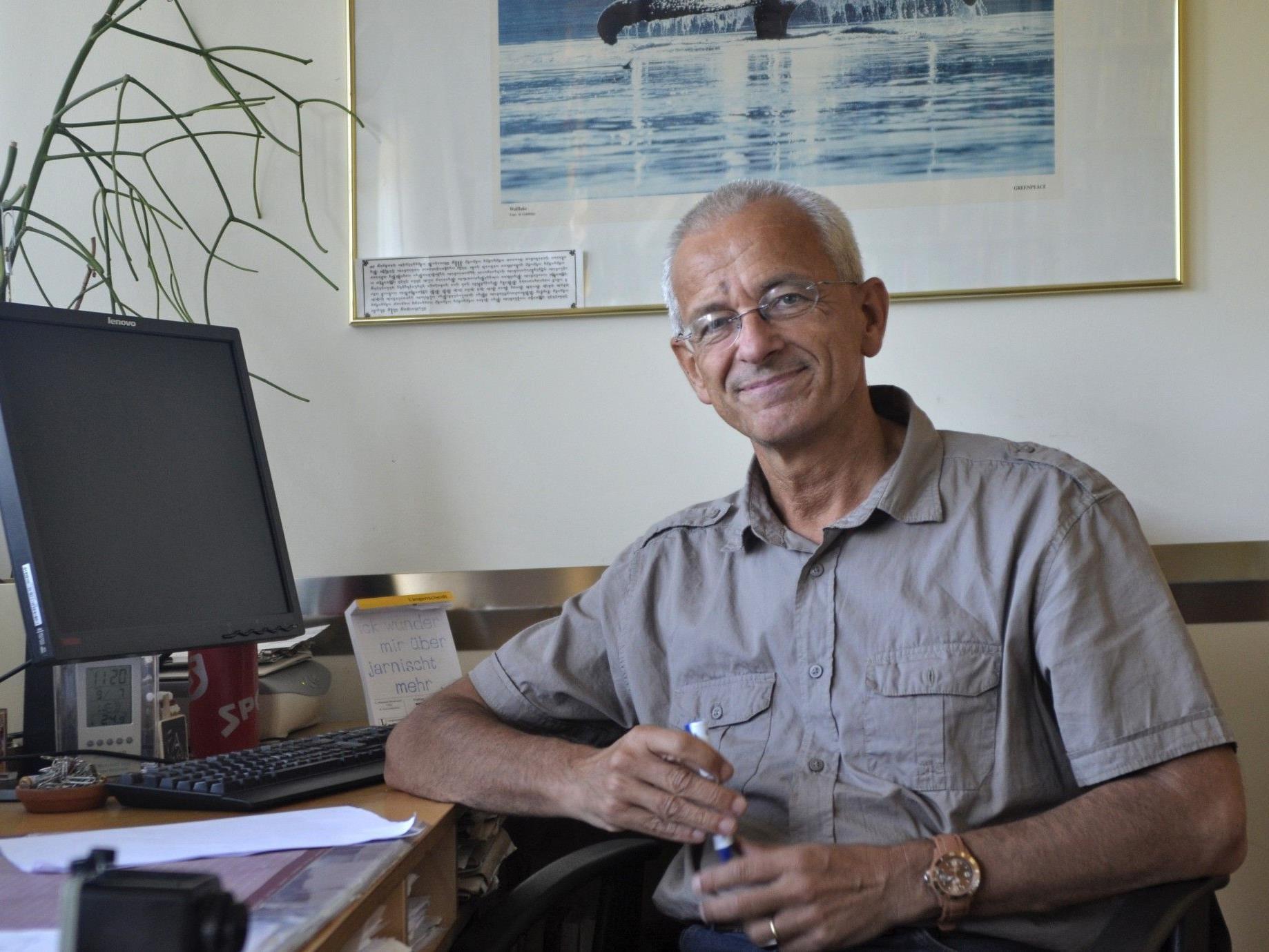 Dr. Roland Wölfle, Leiter der Therapiestation Lukasfeld.