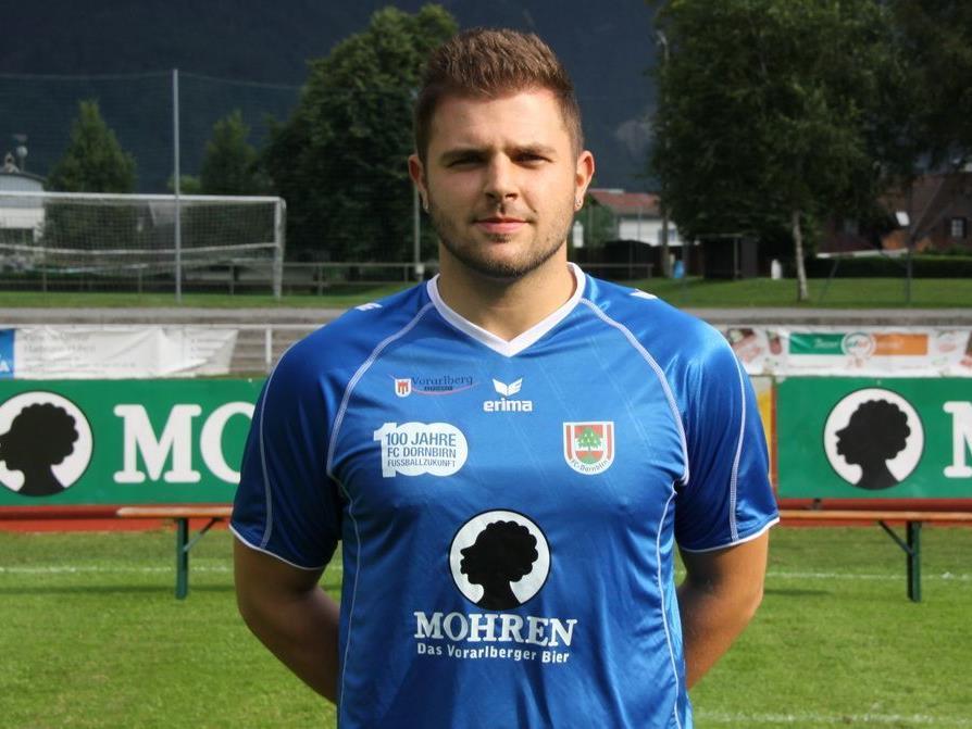 FC Dornbirn Goalie Dominik Lampert fällt verletzungsbedingt für den Rest des Herbstes aus.