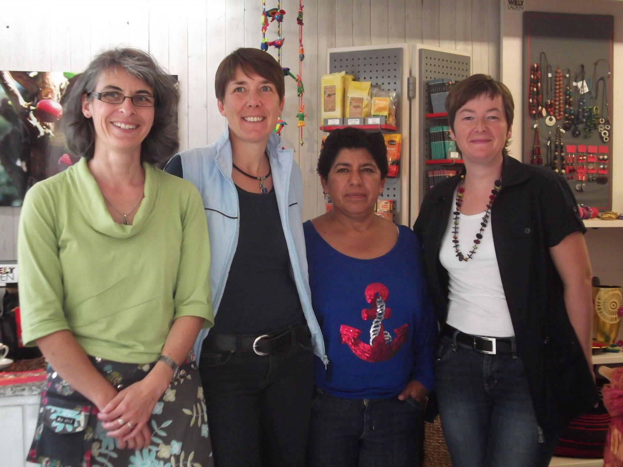 Margarita Carbajal Santos war auch zu Besuch im Weltladen Götzis