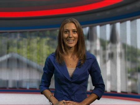 Ländle TV Moderatorin Bianca Oberscheider