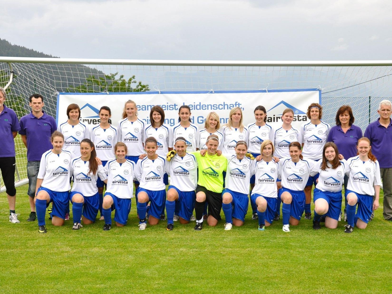 Die Erfolgreiche Frauenmannschaft des FFC Fairvesta Vorderland.