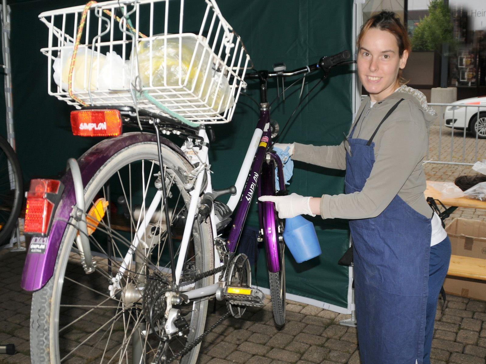 Fahrradputz-Angebot der Lebenshilfe Vorarlberg bei der Dornbirner Msse