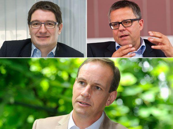 Einwallner (l.) und Frühstück (r.) üben sich in heftiger Kritik an FP-Landeschef Egger (mitte).