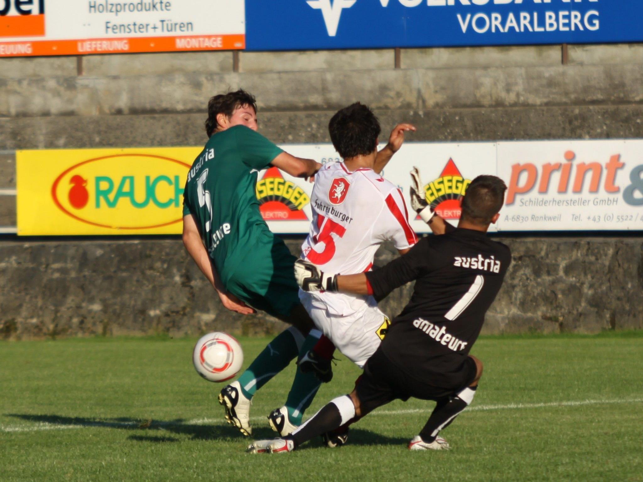 Am Mittwoch wird die Partie Austria Lustenau Amateure gegen Rankweil nachgetragen.