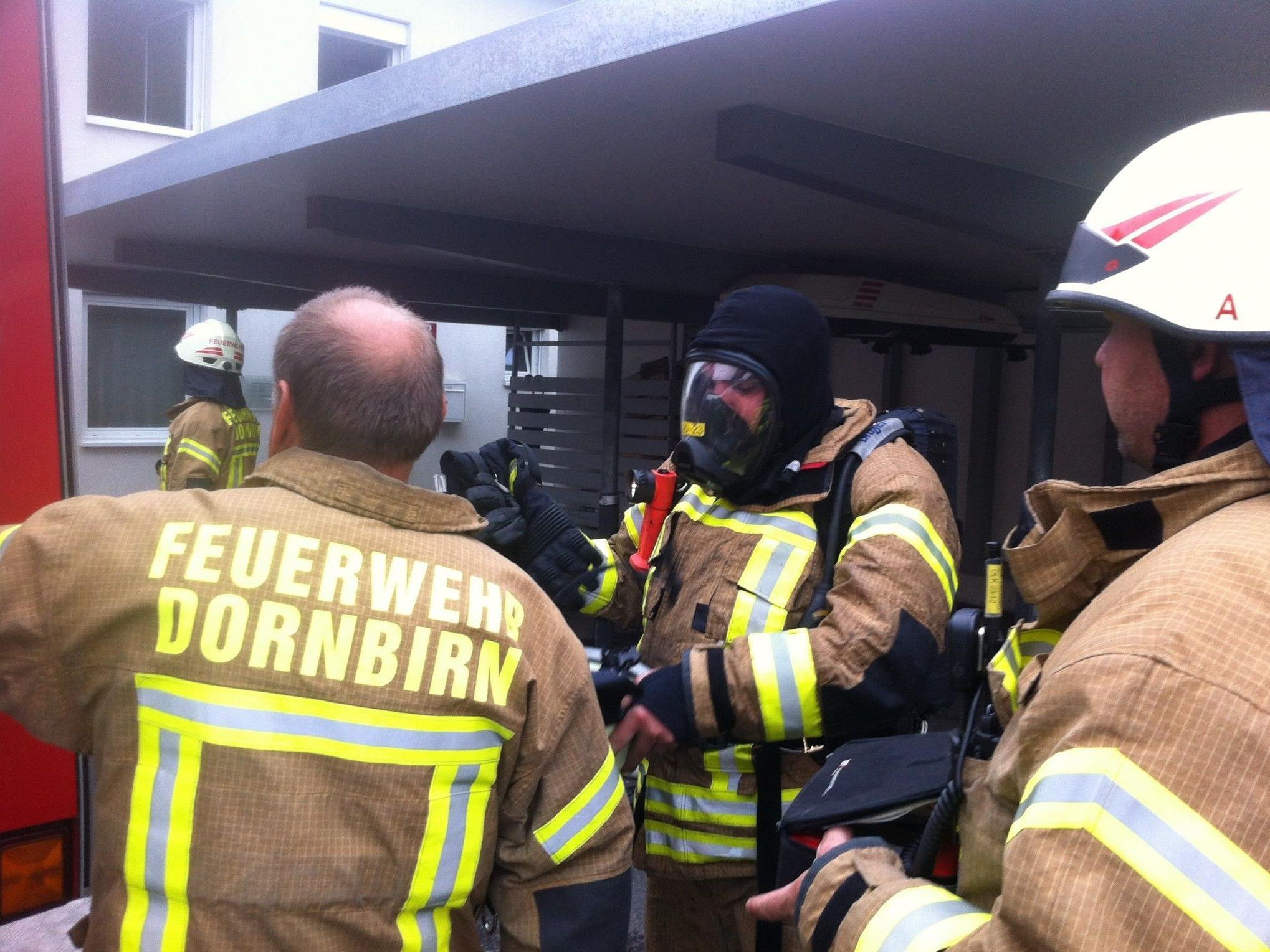 22 Feuerwehrmänner in Dornbirn im Einsatz