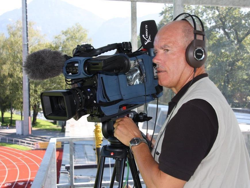 Der Rankweiler Martin Engel ist schon seit vielen Jahren mit Leib und Seele Kameramann für Ländle TV.