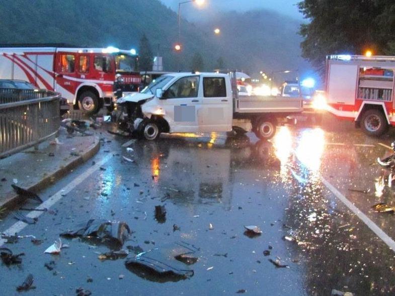 Schwerer Verkehrsunfall in Mellau