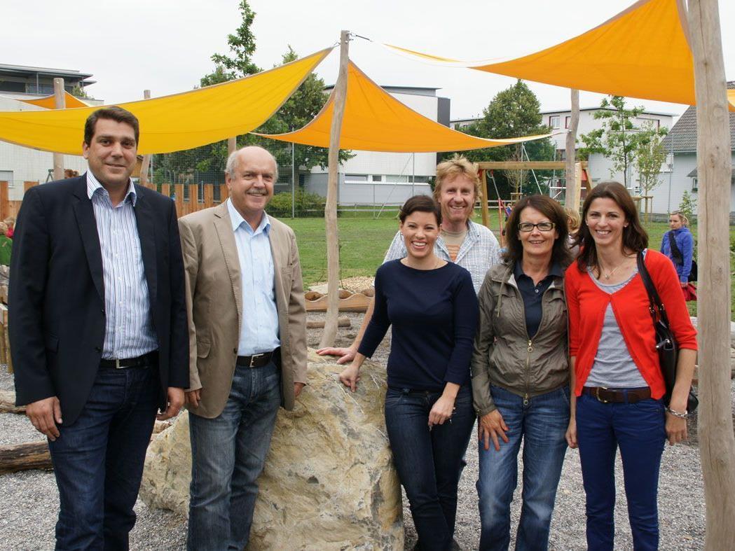 Bgm. Köhlmeier, Anton Weber, Bianca Markowitz, Günter Weisof, Eva-Maria Mair und Julia Moosmann.