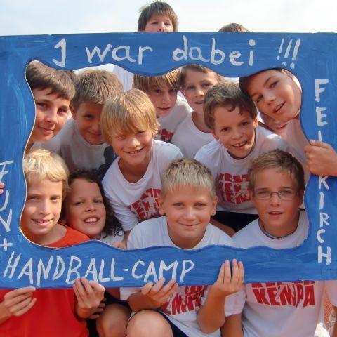 Der Spaßfaktor kommt beim Feldkircher Handballcamp nicht zu kurz.