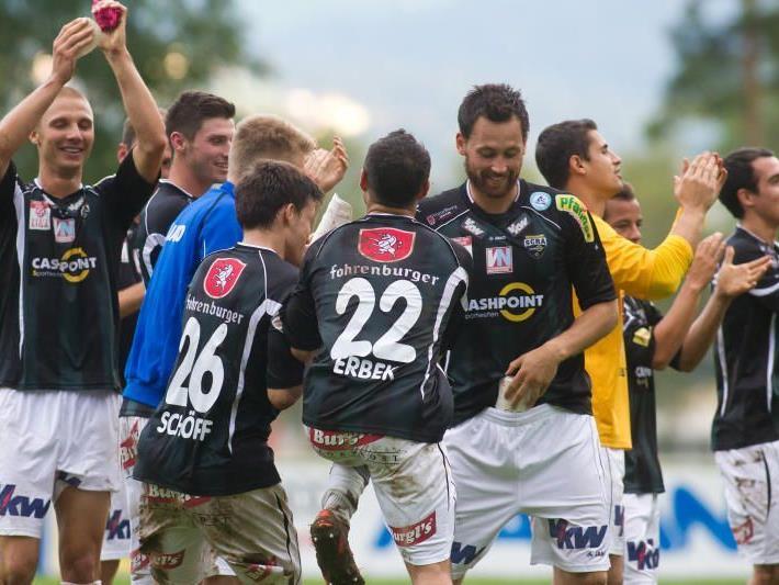 SCR Altach jubelte über den Einzug ins ÖFB-Cup Achtelfinale. Pflichtsieg der Rheindörfler in Hard.