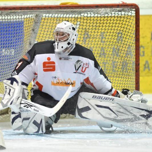 VEU Feldkirch-Goalie Lundin erhielt vier Gegentreffer.