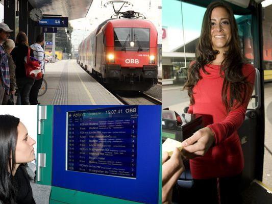 Immer mehr ArbeitnehmerInnen steigen auf öffentliche Verkehrsmittel um.