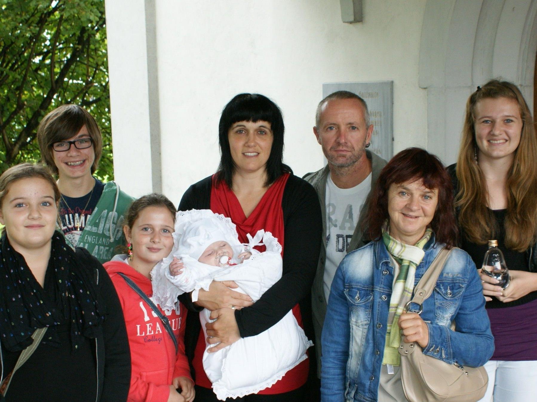 Taufe von Anna Hernegger in der Antoniuskapelle am 29.9.12