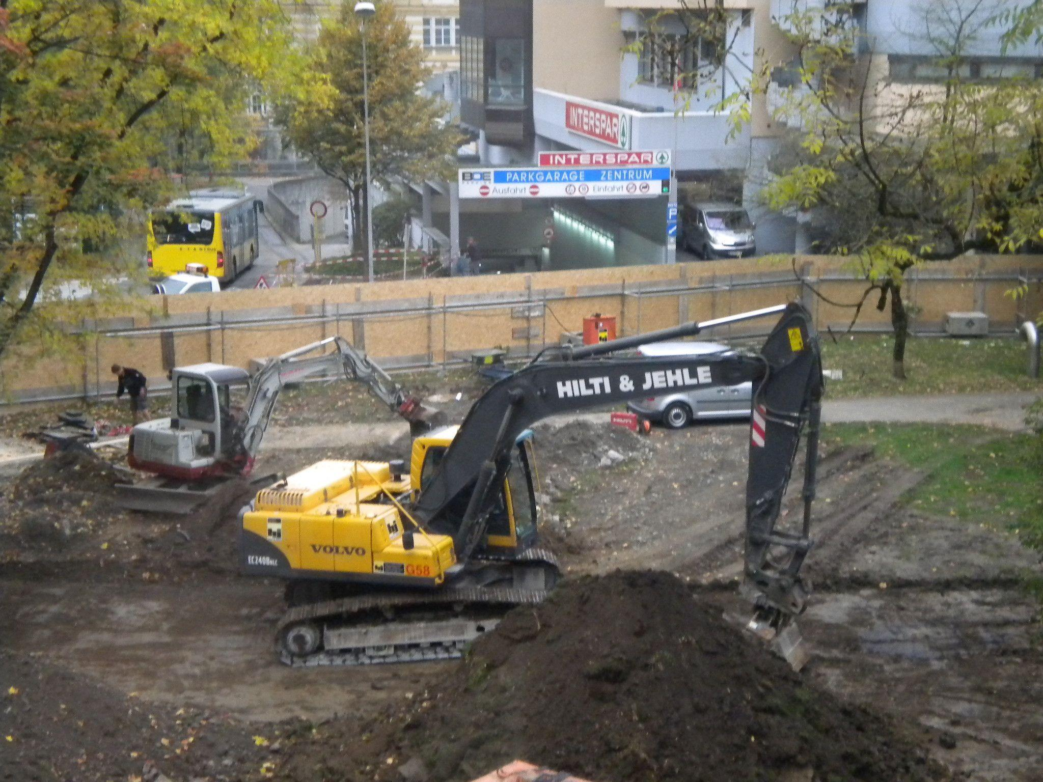 Die Bauarbeiten am Rösslepark haben begonnen