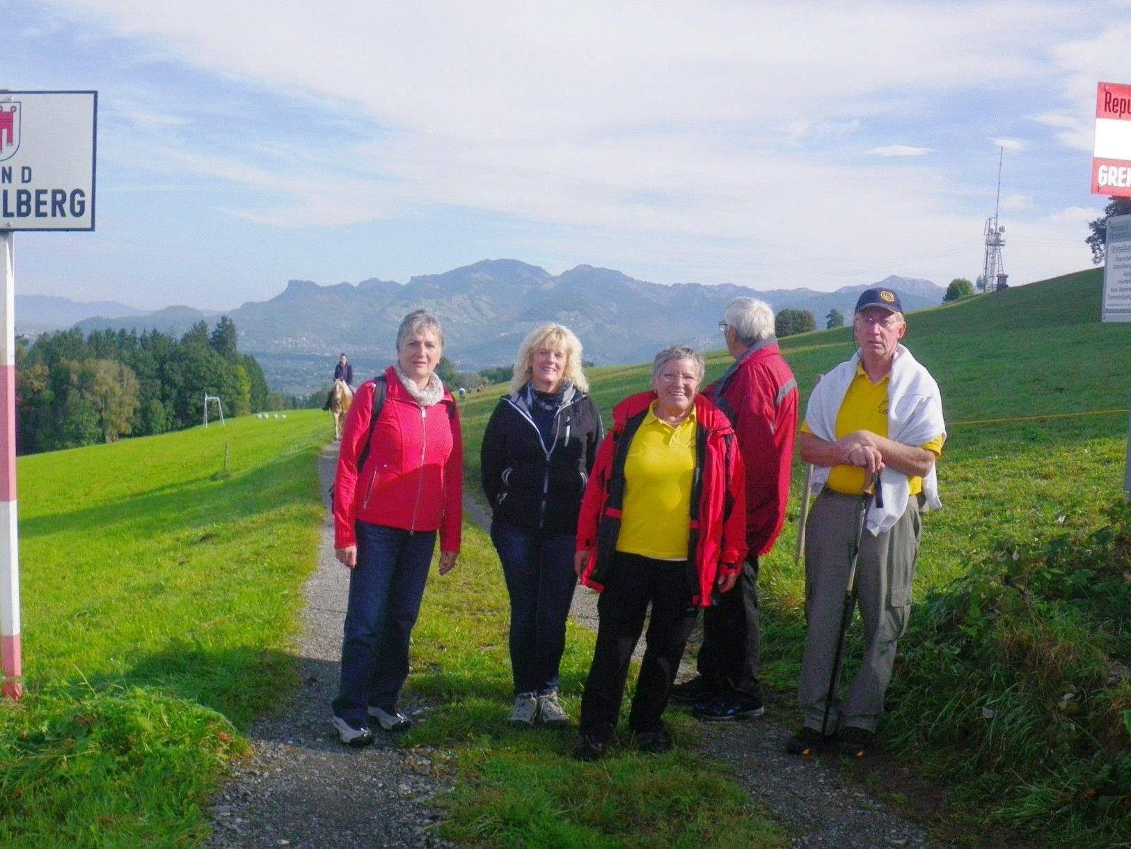 An der Grenze zwischen dem Fürstentum Liechtenstein und Vorarlberg