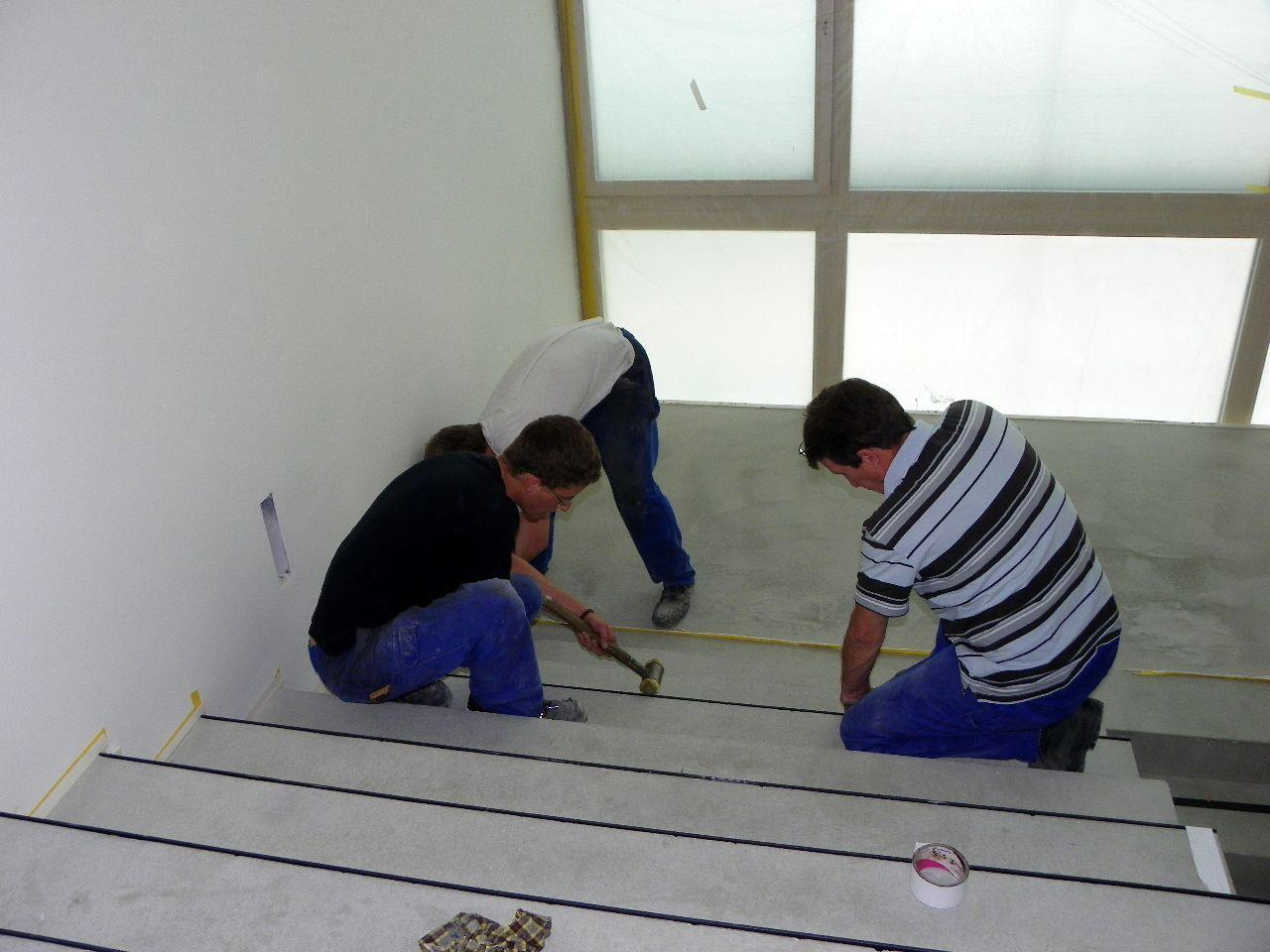 Treppenhaus in Arbeit