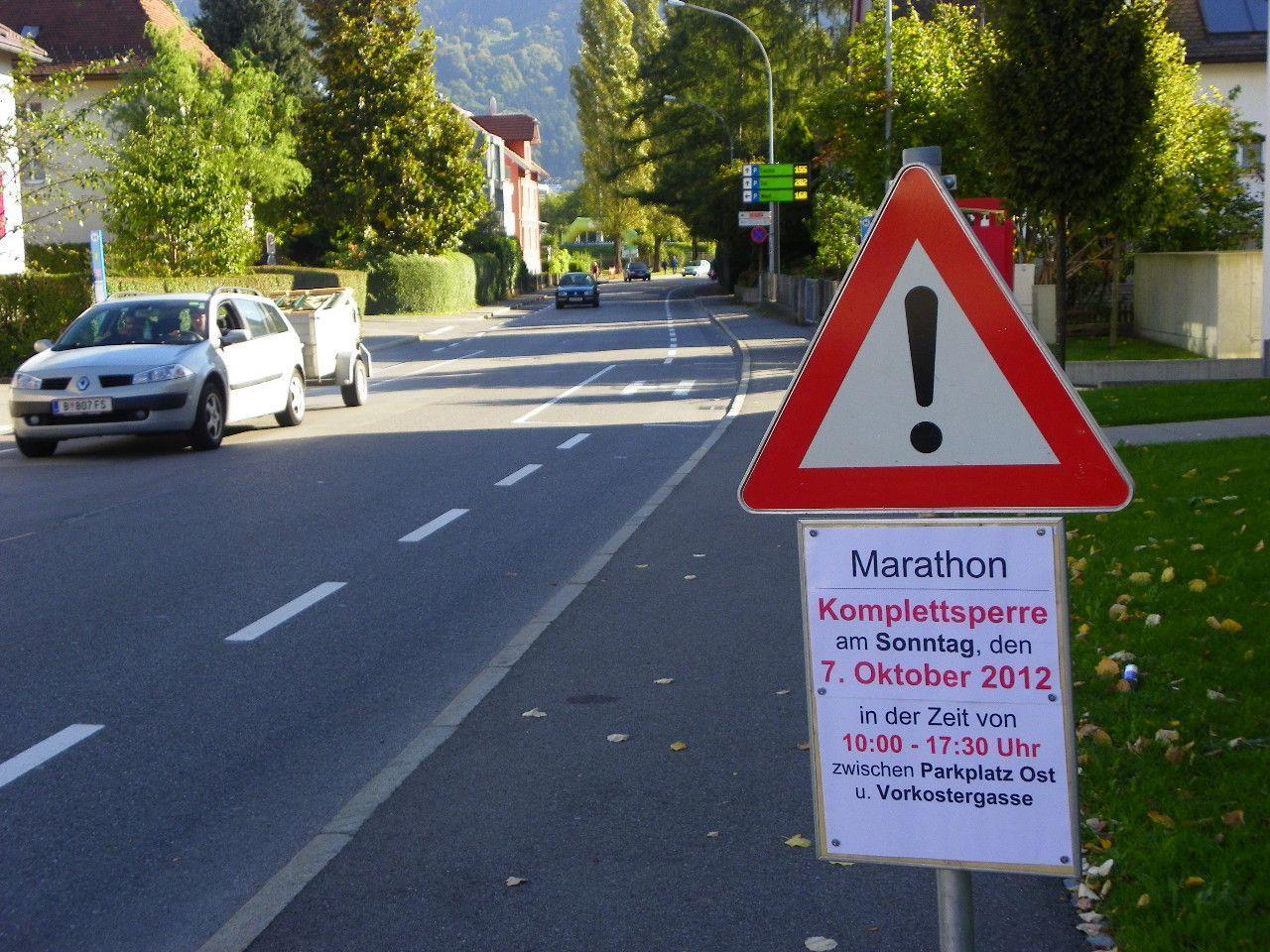 Sperre der Mehrerauerstraße